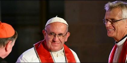 El Papa y el líder de los luteranos