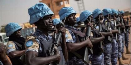 Cascos azules tanzanos, al servicio de la ONU en Congo.