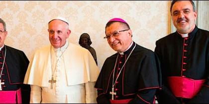El Papa, con los responsables de la Populorum Progressio
