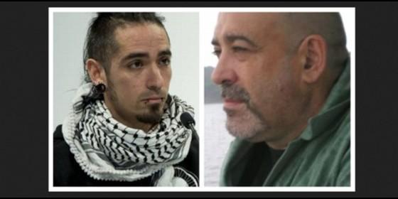 El 'okupa' homicida Rodrígo Lanza y la víctima, el motero Víctor Laínez.