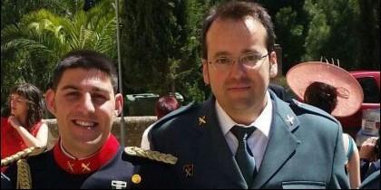 Víctor Romero Pérez y Víctor Jesús Caballero Espinosa, los dos guardis civiles asesinados en Teruel.