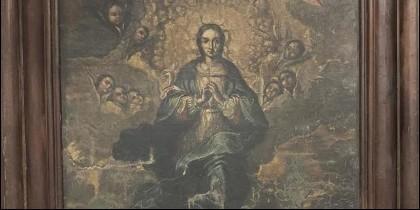 La Inmaculada Concepción, oleo de Sijena, perdido y hallado en el Museo de Lérida.