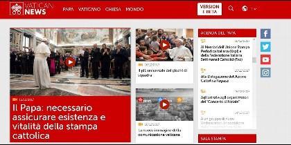 El nuevo portal vaticano