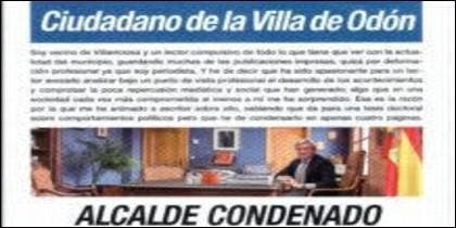 El pasquín que corre por Villaviciosa de Odón.