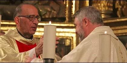 El cardenal Omella, con Carlos Escribano