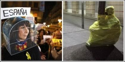 Nacionalistas que han perdido la cordura en Cataluña.