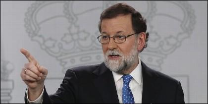 Mariano Rajoy, presidente del Gobierno de España (PP), en La Moncloa.
