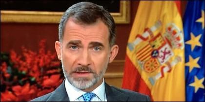 Felipe VI, Rey de España, dirigiéndose a la Nación.