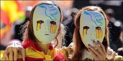 Discurso de odio a España 'mece' la cuna del independentismo en Cataluña.
