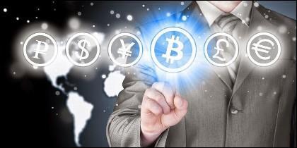 Criptomonedas: Bitcoin, Etherum, Litecoin, Ripple o Dogecoin, frente al dólar, la libra o el euro.