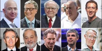 Las 10 personas más ricas del mundo.