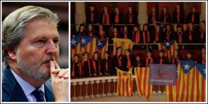 Méndez de Vigo y el acto de adoctrinamiento de niños en el Palau de la Música.