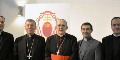 El cardenal Osoro, con sus cuatro auxiliares
