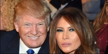 Donald Trump con la bella Melania.