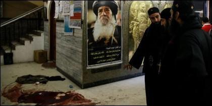 Atentado islamista contra una iglesia copta de Egipto.