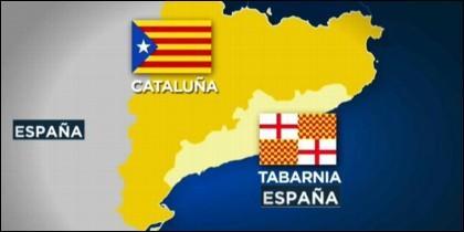 España, Cataluña y Tabarnia.