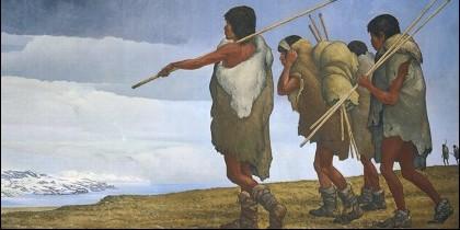 Los primeros nativos americanos entraron al continente por Alaska.