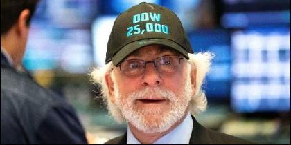 Brokers de Wall Street y el alza del Dow Jones.