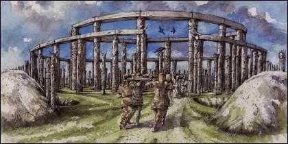 El Woodhenge de madera.