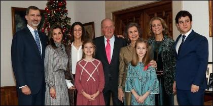 La Familia Real, con alguna ausencia, en el 80 cumpleaños del Rey Juan Carlos.