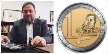 Oriol Junqueras y su 'nueva' moneda.