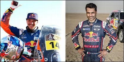 Nasser Al-Attiyah y Sam Sunderland