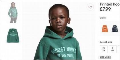 La sudadera de H&M con la leyenda 'el mono más chulo de la jungla'.
