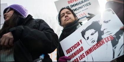 Inmigrantes salvadoreños en EEUU.