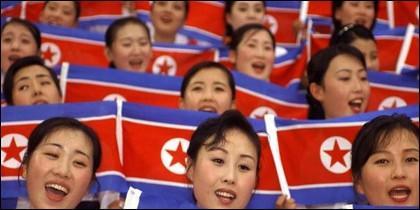 Animadoras norcoreanas