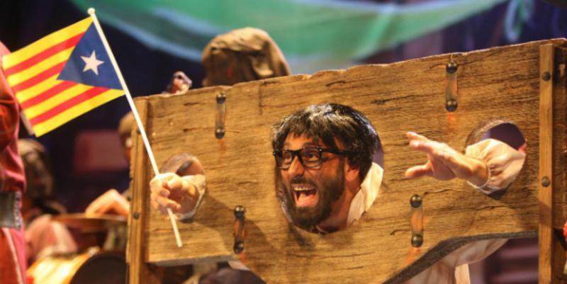 El prófugo Puigdemont en una chirigota del Carnaval de Cádiz 2018.