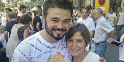 Gabriel Rufián y Carmen Forcadell.