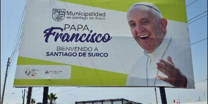 Bienvenida al Papa en Perú