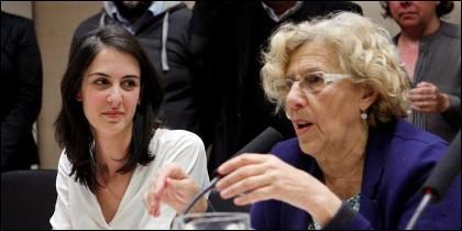 Rita Maestre con Manuela Carmena.