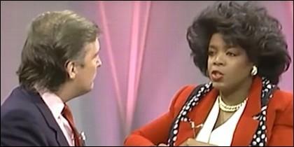 Donald Trump y Oprah Winfrey en 1998