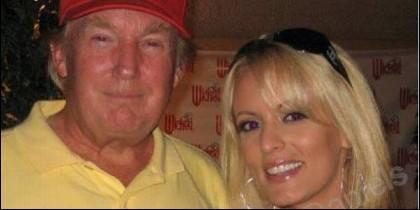 Donald Trump y Stormy Daniels, juntos en 2006.