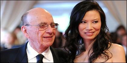 Rupert Murdoch y su exmujer Wendi Deng