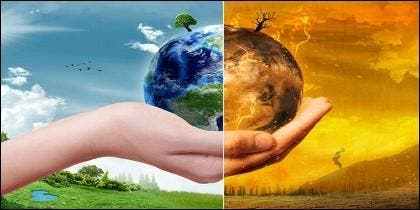 El calentamiento global del Planeta Tierra y el cambio climático.
