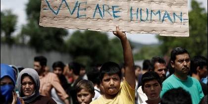 Los refugiados.