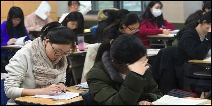 Exámenes en Corea del Sur