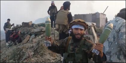 Fanáticos islámicos talibán.