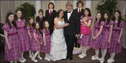 Los Turpin y sus 13 hijos.