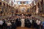 El Papa Francisco, con los jesuitas peruanos