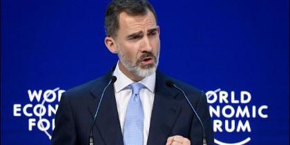 El Rey, en Davos