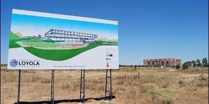 Sitio del futuro nuevo campus de la Universidad Loyola Andalucía