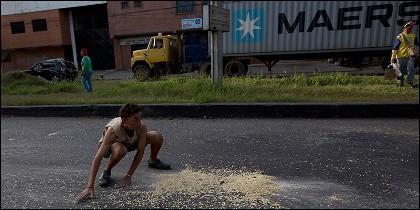 Asalto a camiones en Venezuela.