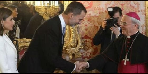 """El Nuncio, al Rey: """"España es una realidad a la que no se ..."""