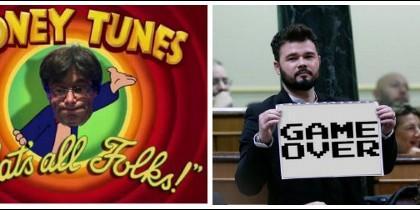 Memes sobre la rendición de Puigdmont.