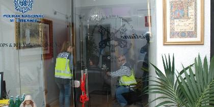 La policía, en la falsa sede del Banco Vaticano