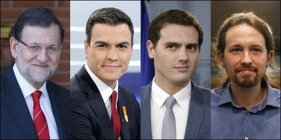 Rajoy, Sánchez, Rivera e Iglesias.