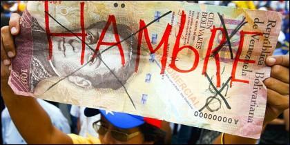 El bolívar venezolano languidece asfixiado por la inflación.